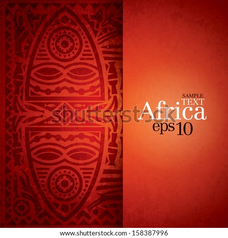 African background design template for cover design magazine cover banner card design flyer design