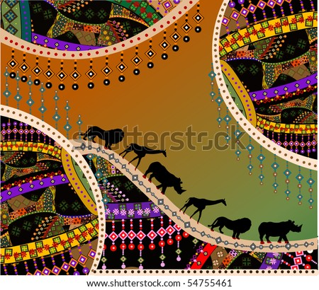 African background in the ethnic style of the various elements