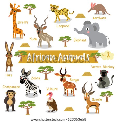 african creature cartoon on