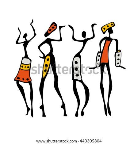 african dancers. people dancing ...