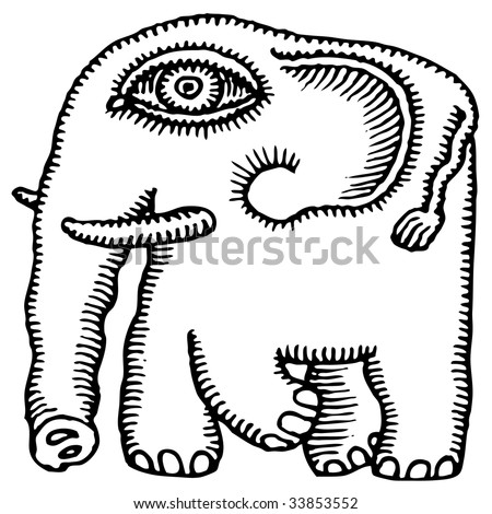elephant tattoo designs. vector : african elephant