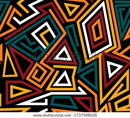 african ethnic afro shewshwe seamless vector prints Stockfoto ©
