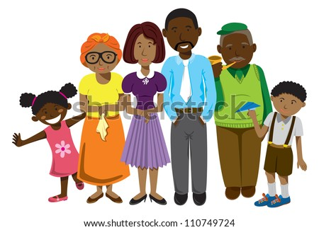 African family - stock vector