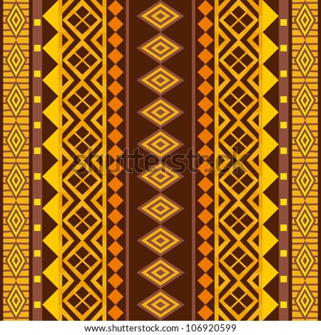 African geometric ornament; vector seamless background