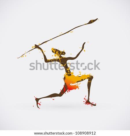 african hunter tribal