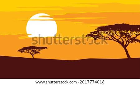 african landscape single trees