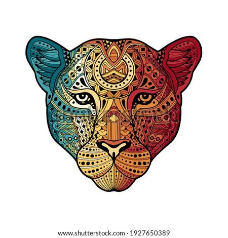 african leopard in vintage