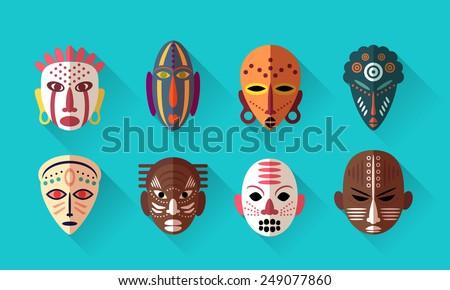 tribal masks set download free vector art stock graphics images