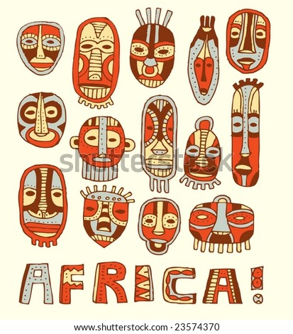 how to make african masks