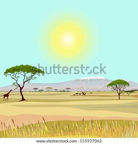 african mountain idealistic