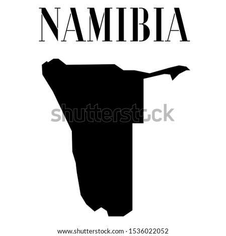 African Namibia outline world map silhouette vector illustration, creative design background, national country flag, objects, element, symbols from countries all continents set.