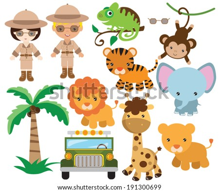 African safari vector illustration
