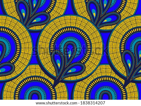 african seamless pattern, picture art and abstract background.
