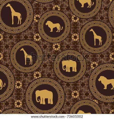 African stile seamless pattern