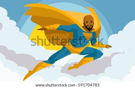 african superhero in the sky