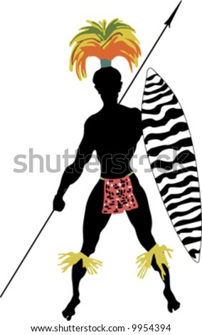 African Symbol for Warrior http://www.shutterstock.com/pic-9954394/stock-vector-african-tribe-warrior.html