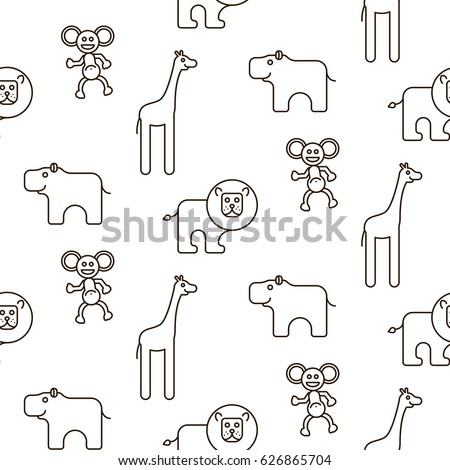 african wild animals kid