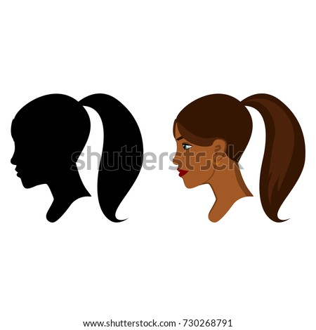 african woman head in profile