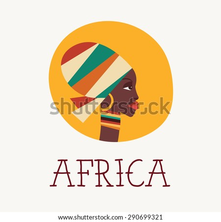 african woman icon and