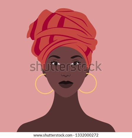 african woman in national