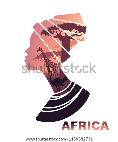 african woman s head silhouette