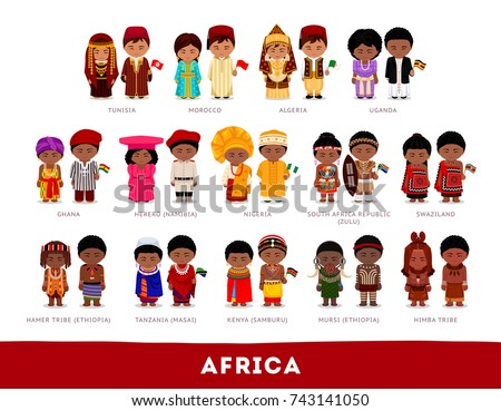 africans in national clothes