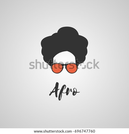 Afro woman with glasses in different styles, Vector illustration template design. Cool african man. Afro Haircut