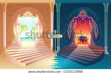 afterlife payoff cartoon vector