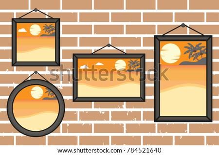 afternoon summer beach frames