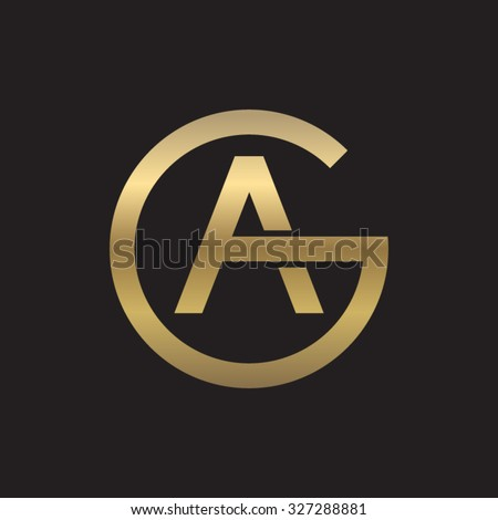ag or ga letters  golden circle