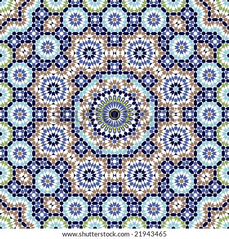 Agadir Complex Seamless Pattern - stock vector