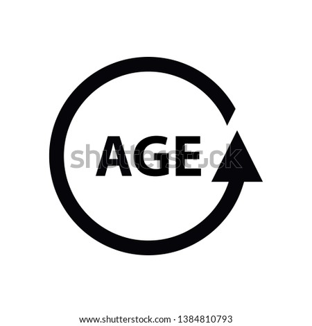 Age Vector Icon isolated on white