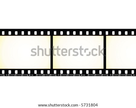 aged dirty filmstrip detail - stock vector