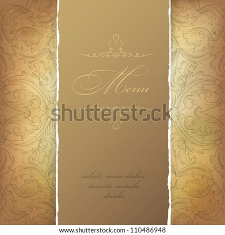Aged menu template Vector illustration EPS10