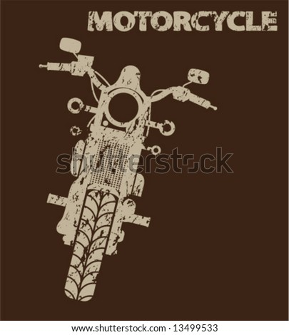Aged Motorcycle Silhouette