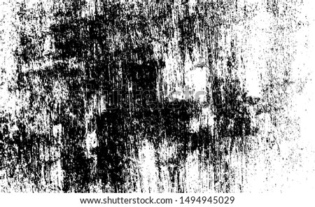 Aged wall texture. Grainy messy overlay of empty, aging, scratched wall. Grunge rough dirty background. Vector Illustration. Black isolated on white background. EPS10.
