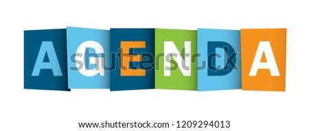 AGENDA colorful letters banner Stock photo ©