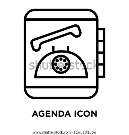 Agenda icon vector isolated on white background, Agenda transparent sign