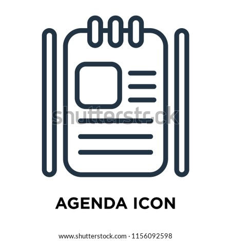 Agenda icon vector isolated on white background, Agenda transparent sign , thin symbols or lined elements in outline style