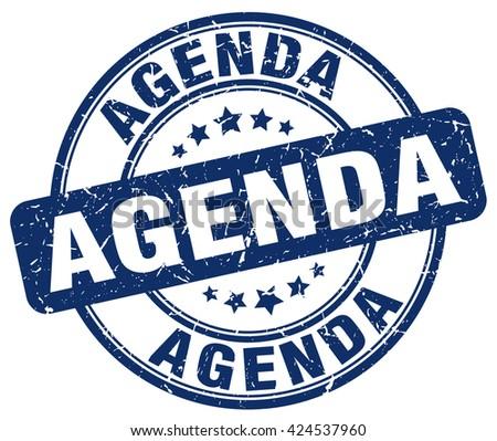 agenda. stamp