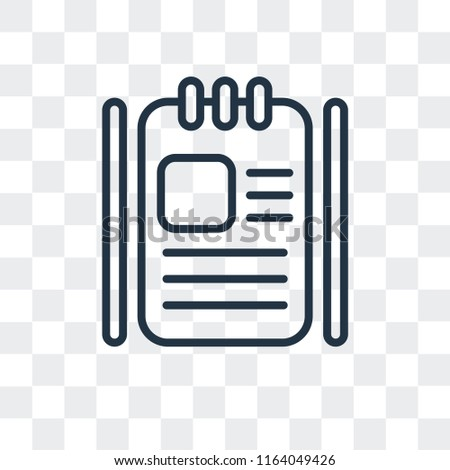 Agenda vector icon isolated on transparent background, Agenda logo concept