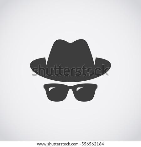 Agent icon. Spy sunglasses. Hat and glasses Сток-фото ©