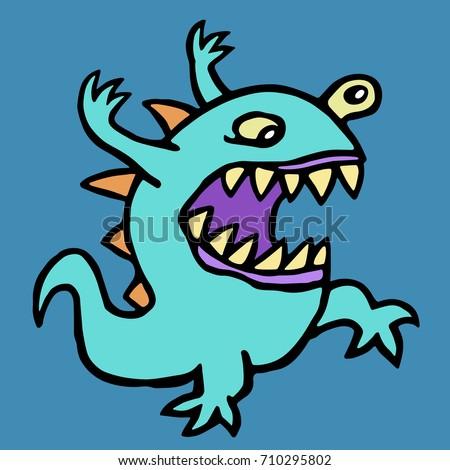 aggressive cartoon alien