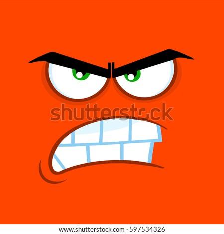 aggressive cartoon funny face