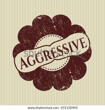 Aggressive rubber stamp with grunge texture