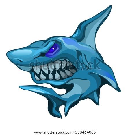 aggressive shark bares sharp