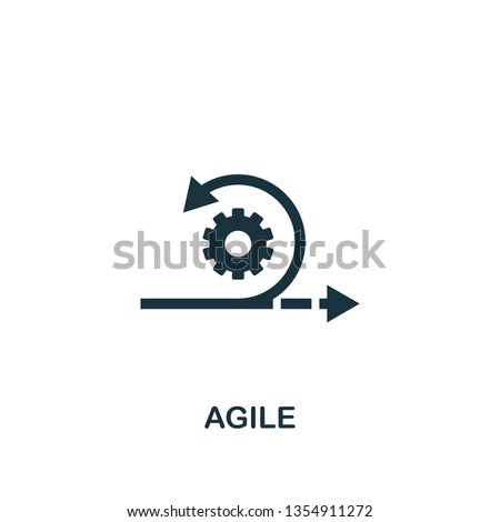 Agile icon. Creative element design from content icons collection. Pixel perfect Agile icon for web design, apps, software, print usage. Foto d'archivio ©