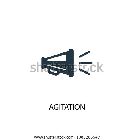 agitation icon. Simple element illustration. agitation concept symbol design from Elections collection. Can be used for web and mobile.