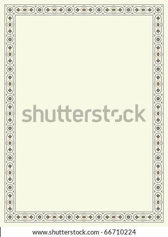 Agra Simple Floral Frame