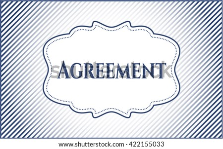 Agreement card, poster or banner